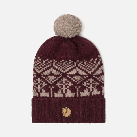 Шапка Fjallraven Snow Ball Dark Garnet