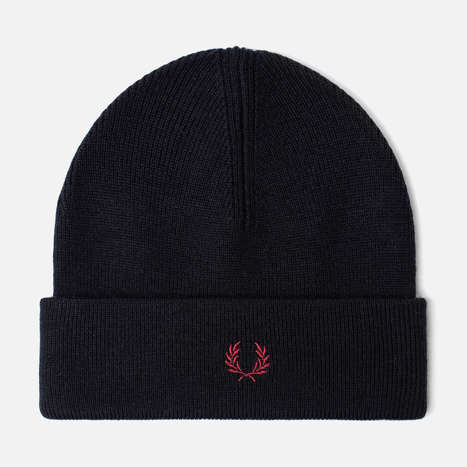Шапка Fred Perry Merino Wool Navy/Ecru