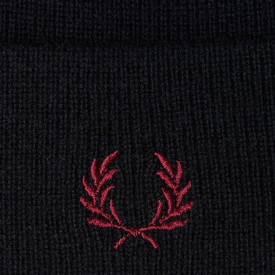 Шапка Fred Perry Merino Wool Navy/Ecru