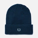 Шапка Fred Perry Ribbed Beanie Indigo фото- 0