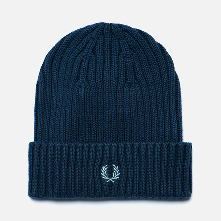 Шапка Fred Perry Ribbed Beanie Indigo