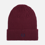 Шапка Fred Perry Ribbed Beanie Rosewood фото- 0