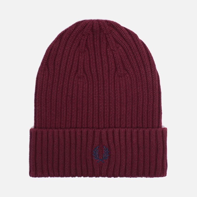 Шапка Fred Perry Ribbed Beanie Rosewood