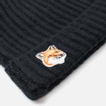 Шапка Maison Kitsune Beanie Black фото- 1