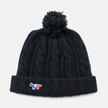 Шапка Maison Kitsune Cable Knitted Black фото- 0