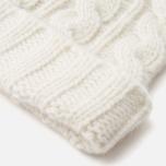 Maison Kitsune Cable Knitted Hat Ecru photo- 2