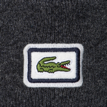 Шапка Lacoste Badge Thick Wool Blend Grey Chine фото- 1