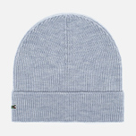 Шапка Lacoste Ribbed Wool Beanie Light Grey фото- 0