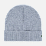 Шапка Lacoste Ribbed Wool Beanie Light Grey фото- 1