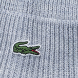 Шапка Lacoste Ribbed Wool Beanie Light Grey фото- 2