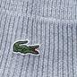 Шапка Lacoste Ribbed Wool Beanie Light Grey фото - 2