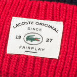Шапка Lacoste Bobble Red/Grey/Navy фото- 2