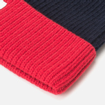 Шапка Lacoste Bobble Red/Grey/Navy фото- 1