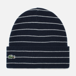 Lacoste Live Beanie Striped Jersey Hat Navy/White photo- 0