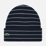 Шапка Lacoste Live Beanie Striped Jersey Navy/White фото- 0