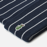 Lacoste Live Beanie Striped Jersey Hat Navy/White photo- 1