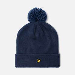 Шапка Lyle & Scott Bobble Beanie Dark Navy
