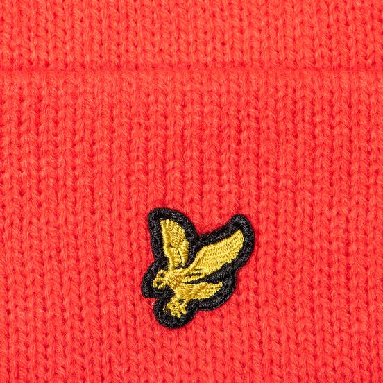 Шапка Lyle & Scott Bobble Beanie Grenadine Red