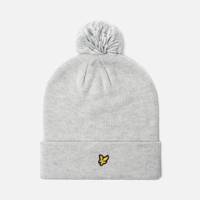 Шапка Lyle & Scott Bobble Beanie Light Grey Marl