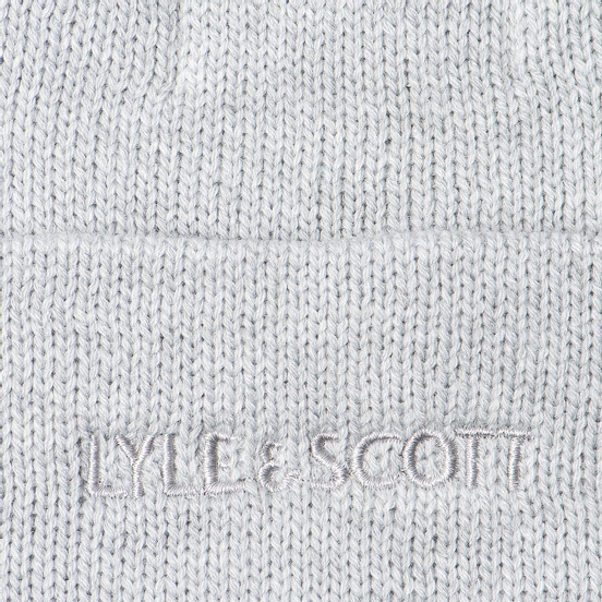 Шапка Lyle & Scott Bobble Beanie Light Grey Marl