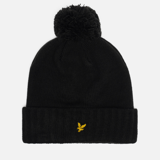 Шапка Lyle & Scott Bobble Beanie True Black