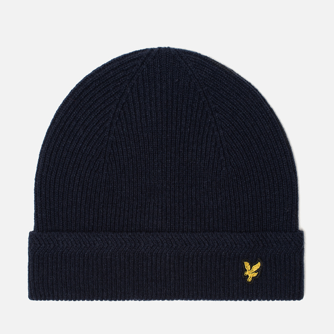 Шапка Lyle & Scott Racked Rib Beanie New Navy