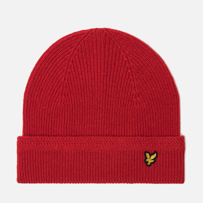 Шапка Lyle & Scott Racked Rib Beanie Tomato Red