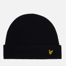 Шапка Lyle & Scott Racked Rib Beanie True Black фото- 0