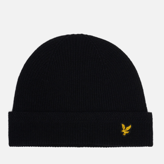 Шапка Lyle & Scott Racked Rib Beanie True Black