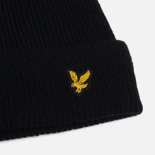 Шапка Lyle & Scott Racked Rib Beanie True Black фото- 1