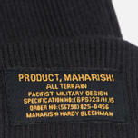 Шапка maharishi Chi Ribbed Black фото- 1