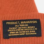 Шапка maharishi Chi Rib Rust фото- 1