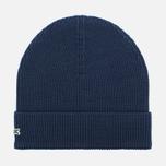 Мужская шапка Lacoste Ribbed Wool Beanie Navy фото- 0