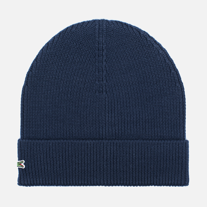 Мужская шапка Lacoste Ribbed Wool Beanie Navy