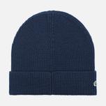 Мужская шапка Lacoste Ribbed Wool Beanie Navy фото- 1