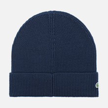 Шапка Lacoste Ribbed Wool Beanie Navy фото- 1
