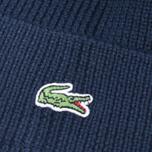Мужская шапка Lacoste Ribbed Wool Beanie Navy фото- 2
