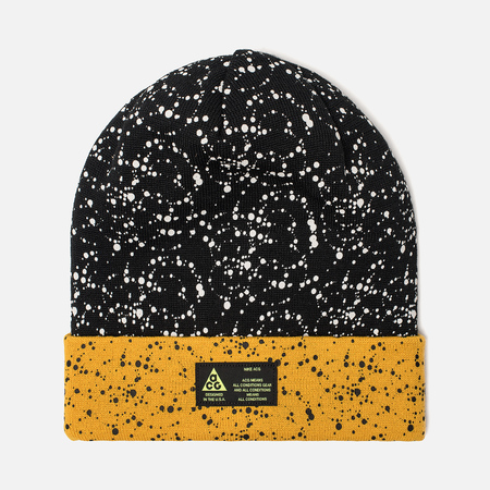 Шапка Nike ACG NRG Beanie Black/Yellow Ochre/White