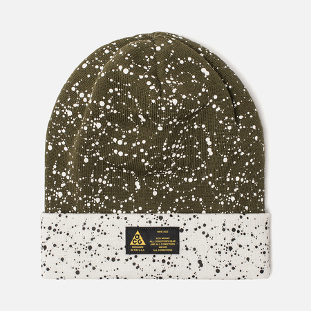 Шапка Nike ACG NRG Beanie Olive Canvas/White/Volt Glow