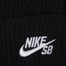 Шапка Nike SB Beanie Fisherman Black/White фото- 1