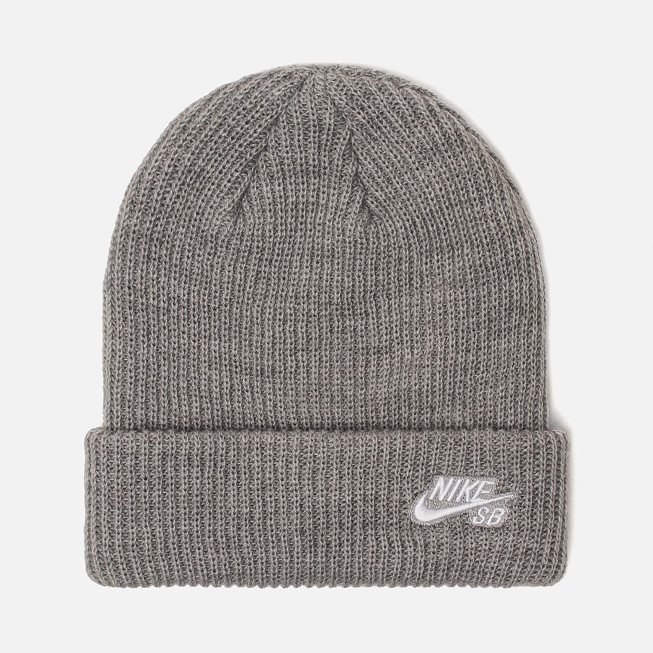 Шапка Nike SB Beanie Fisherman Dark Grey Heather/White