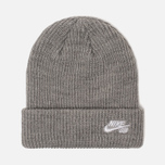 Шапка Nike SB Beanie Fisherman Dark Grey Heather/White фото- 0