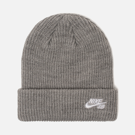 Nike SB Шапка Beanie Fisherman Dark Grey Heather White fde5b137bc7c