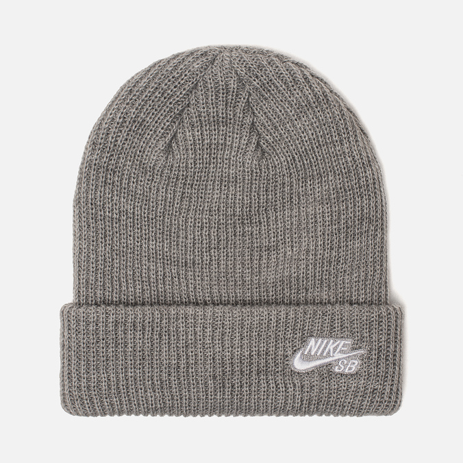 Шапка Nike SB Beanie Fisherman Dark Grey Heather/White