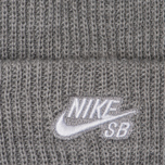 Шапка Nike SB Beanie Fisherman Dark Grey Heather/White фото- 1