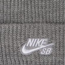 Шапка Nike SB Beanie Fisherman Dark Grey Heather/White фото- 1