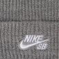 Шапка Nike SB Beanie Fisherman Dark Grey Heather/White фото - 1
