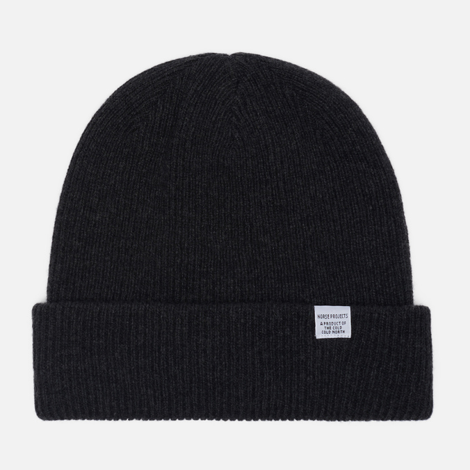 Мужская шапка Norse Projects Norse Beanie Charcoal Melange