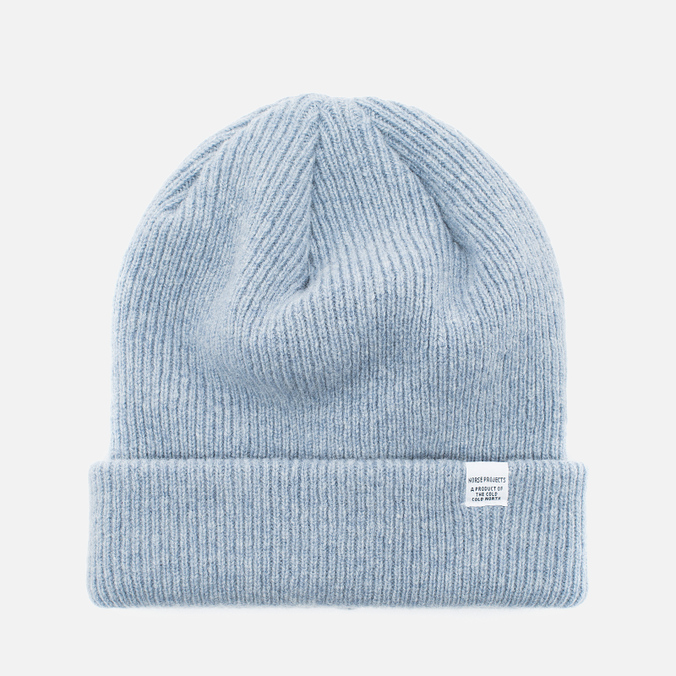Norse Projects Norse Beanie Hat Colony Blue