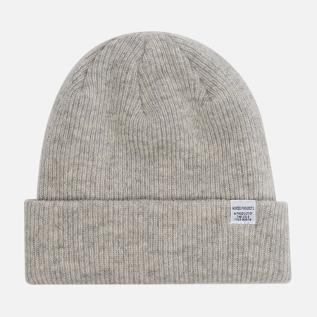 Мужская шапка Norse Projects Norse Beanie Light Grey Melange